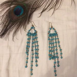 Urban Outfitters Jewelry - Turquoise dangling beaded earrings